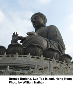 Lua Tao Island, Hong Kong -- largest outdoor bronze Buddha in world